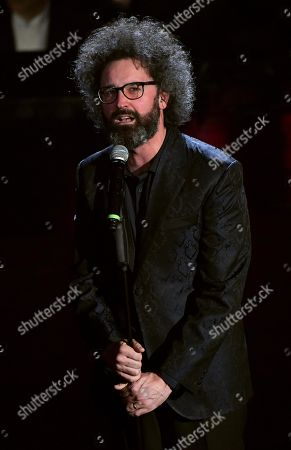 Simone Cristicchi performs on stage at the Ariston theatre during the 69th Sanremo Italian Song Festival, Sanremo, Italy, 07 February 2019. The festival runs from 05 to 09 February.