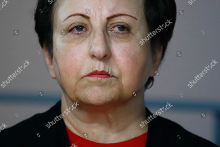 Stock Picture of Iranian Nobel Peace laureate Shirin Ebadi attends a news conference on Iran at the Reporters without Borders (RSF) offices in Paris, France,. The media advocacy group Reporters Without Borders says that 860 journalists were detained by Iran over 30 years period, starting with the inception in 1979 of the Islamic Republic. The organization revealed on Thursday its macabre headcount of named journalists and citizen-journalists detained around Tehran, the capital, some of them executed, in what it said was a first