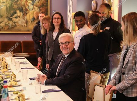 Editorial image of German President Frank-Walter Steinmeier visits Frankfurt Main, Frankfurt Am Main, Germany - 07 Feb 2019