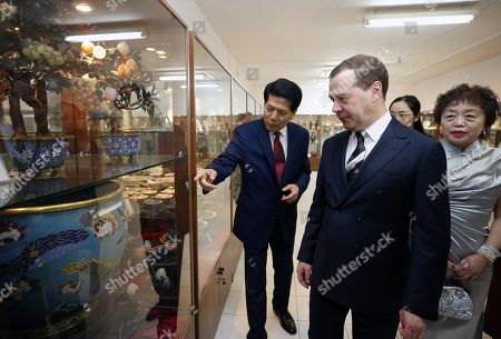 Editorial picture of Russian Prime Minister Medvedev visits Chinese Embassy in Moscow, Russian Federation - 07 Feb 2019