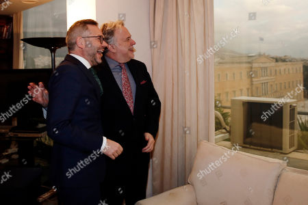 Alternate Foreign Minister Giorgos Katrougalos (R) talks with German Minister of State for Europe Michael Roth (L) during their meeting, in Athens, Greece, 7 February 2019. Roth and Katrougalos focusing on bilateral political and financial issues, the recent regional developments as well as issues of European interest as Brexit, the migration and the common foreign policy and the safety policy, a ministry announcement said.