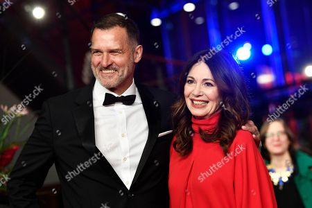 Iris Berben (R) and Heiko Kiesow arrive for the opening ceremony of the 69th annual Berlin International Film Festival in Berlin, Germany, 07 February 2019. The Berlinale runs from 07 to 17 February.