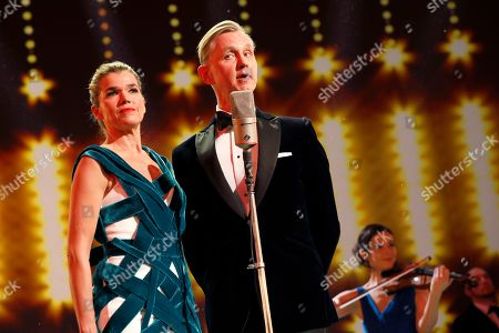 Anke Engelke (L) and Max Raabe during for the opening ceremony of the 69th annual Berlin International Film Festival in Berlin, Germany, 07 February 2019. The Berlinale runs from 07 to 17 February.