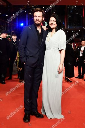 Jasmin Tabatabai (R) and Andreas Pietschmann arrive for the opening ceremony of the 69th annual Berlin International Film Festival in Berlin, Germany, 07 February 2019. The Berlinale runs from 07 to 17 February.