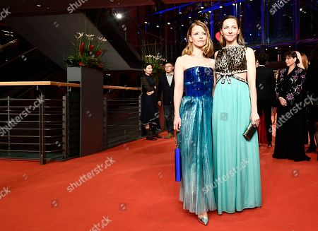 Karoline Schuch (L) and Katharina Schuettler (R) arrive for the opening ceremony of the 69th annual Berlin International Film Festival in Berlin, Germany, 07 February 2019. The Berlinale runs from 07 to 17 February.