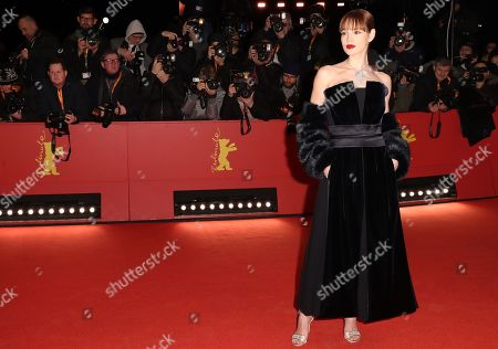 Stock Image of Emilia Schuele arrives for the opening ceremony of the 69th annual Berlin International Film Festival in Berlin, Germany, 07 February 2019. The Berlinale runs from 07 to 17 February.