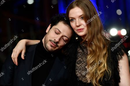 Fahri Ogün Yardim (L) and Pheline Roggan arrive for the opening ceremony of the 69th annual Berlin International Film Festival in Berlin, Germany, 07 February 2019. The Berlinale runs from 07 to 17 February.