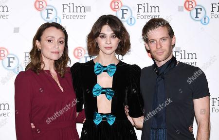 Keeley Hawes, Emma Appleton and Luke Treadaway