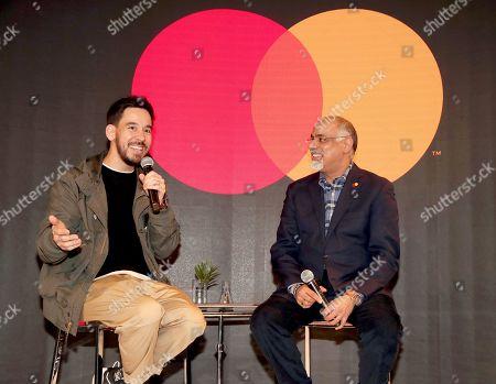 Mike Shinoda and Mastercard Chief Marketing & Communications Officer Raja Rajamannar