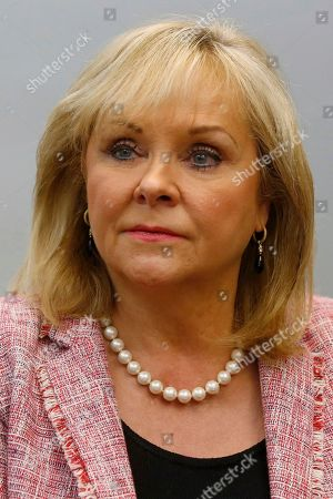 """Oklahoma Governor Mary Fallin is pictured during an interview in Oklahoma City, Okla. A gun bill vetoed last year by then-Gov. Fallin appears to be sailing toward Oklahoma's new Republican governor. The measure would allow residents to carry a gun without any training or a background check. Gov. Kevin Stitt has suggested he'll sign the bill, which has been dubbed """"constitutional carry"""" by its supporters. The measure cleared its first legislative hurdle Thursday when a House committee approved it on a 9-2 vote. The measure now advances to the full House"""