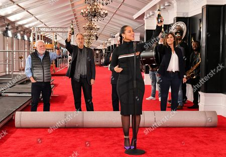 Ken Ehrlich, Neil Portnow, Jack Sussman, Alicia Keys and Chantel Sausedo