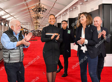 Stock Image of Ken Ehrlich, Alicia Keys, Chantel Saucedo and Jack Sussman