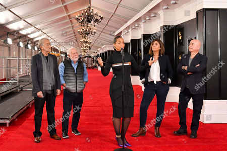 Neil Portnow, Ken Ehrlich, Alicia Keys, Chantel Saucedo, and Jack Sussman