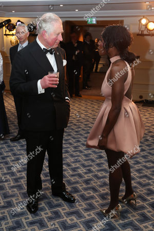 Prince Charles meets singer Laura Mvula during the Prince's Trust 'Invest In Futures' Reception at The Savoy Hotel.