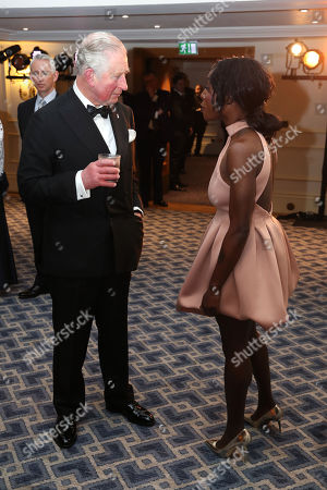 Stock Picture of Prince Charles meets singer Laura Mvula during the Prince's Trust 'Invest In Futures' Reception at The Savoy Hotel.