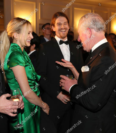 Prince Charles shares a joke with Fearne Cotton and Jesse Wood during the Prince's Trust 'Invest In Futures' Reception at The Savoy Hotel.