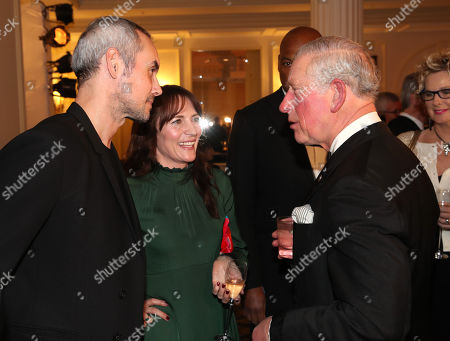 Prince Charles meets Steve John Shepherd and Anna Wilson-Jones during the Prince's Trust 'Invest In Futures' Reception at The Savoy Hotel.