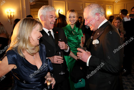 Prince Charles shares a joke with Stephanie Lowe, Phillip Schofield and Fearne Cotton during the Prince's Trust 'Invest In Futures' Reception at The Savoy Hotel.