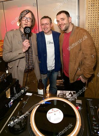 Jarvis Cocker, Alexis Taylor and Paul Noble