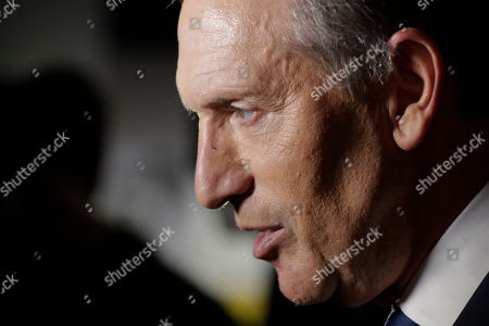 Former Starbucks CEO Howard Schultz during a press conference following his speech at Purdue University in West Lafayette, Ind