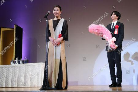 Stock Image of (L to R) Haruka Igawa, Jun Shison