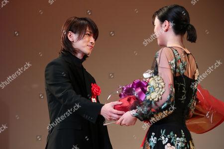 (L to R) Takeru Sato, Mei Nagano