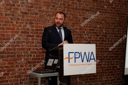 NYC Council Speaker Corey Johnson speaks at the FPWA Federal Funds tracker launch event on in New York