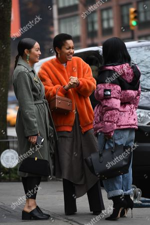 Editorial photo of Street Style, Fall Winter 2019, New York Fashion Week, USA - 07 Feb 2019