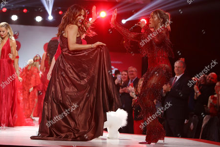 Nicole Ari Parker and Eve on the catwalk