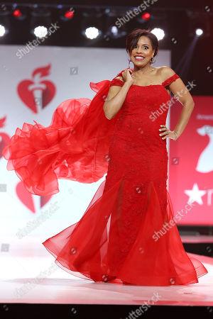 Sheinelle Jones on the catwalk