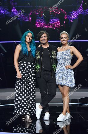 Amy (L), George (C) and Emma Sheppard (R) of the band Sheppard pose for a photo during a media call at the Gold Coast Convention and Exhibition Centre on the Gold Coast, Australia, 08 February 2019. Ten artists are performing an original composition at the Eurovision - Australia Decides for their chance to represent Australia at the Eurovision Song Contest 2019.