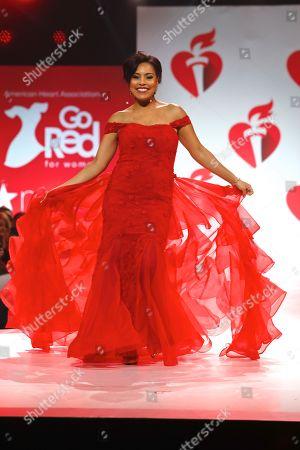Sheinelle Jones on catwalk