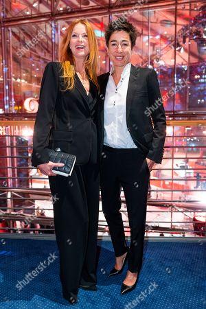 Esther Schweins and German journalist Dunja Hayali