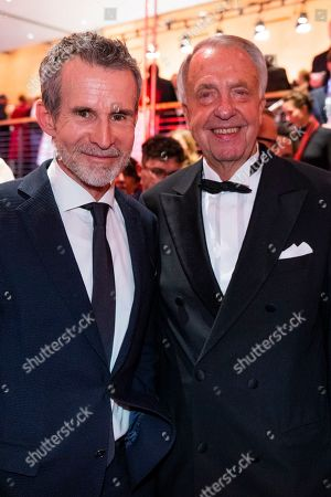 Ulrich Matthes and German Politician Bernd Neumann at the after show party of the opening ceremony of the 69th annual Berlin International Film Festival in Berlin, Germany, 07 February 2019. The Berlinale runs from 07 to 17 February.