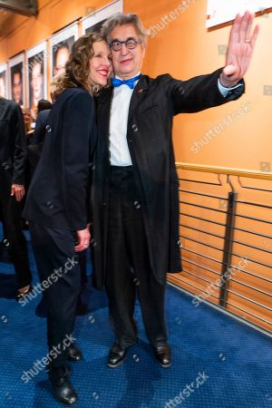 German photographer Donata Wenders and German filmmaker Wim Wenders pose for a photo at the after-show party of the opening ceremony of the 69th annual Berlin International Film Festival in Berlin, Germany, 07 February 2019. The Berlinale runs from 07 to 17 February.