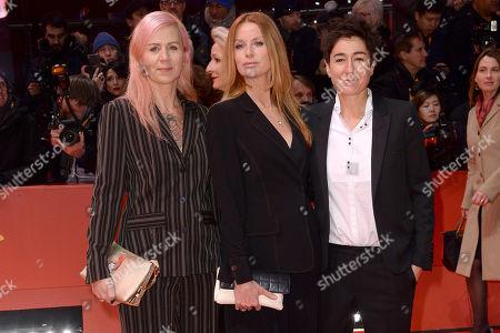 Dunja Hayali and girlfriend Pamela Schobess and Esther Schweins