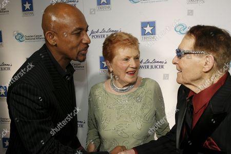 Montel Williams, Elaine LaLanne and Jack LaLanne