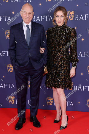 Sir Patrick Stewart and Sunny Ozell attend the BAFTA Film Gala, held at The Savoy