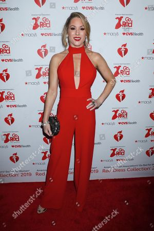 Editorial photo of 15th Annual American Heart Association's 'Go Red for Women' Red Dress Collection show, Arrivals, Fall Winter 2019, New York Fashion Week, USA - 07 Feb 2019