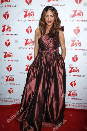 Editorial image of 15th Annual American Heart Association's 'Go Red for Women' Red Dress Collection show, Arrivals, Fall Winter 2019, New York Fashion Week, USA - 07 Feb 2019