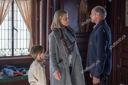 Jackson Robert Scott as Miles, Taylor Schilling as Sarah and Colm Feore as Arthur Jacobson