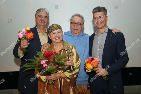 Film director Gregory Nava, film producer Sandra Schulberg, Berlinale film festival director Dieter Kosslick, and film producer Anthony Bregman pose during the Berlinale Camera award ceremony at the Gropius Bau during the Berlinale film festival in Berlin, Germany, 08 February 2019. Schulberg is being recognized by the Berlinale for her 40 years as an independent film producer. The 69th edition of the Berlinale runs from 7-17 February.