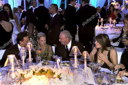 Stock Image of Arun Nayar, Kate Moss, Philip Green and Liz Hurley