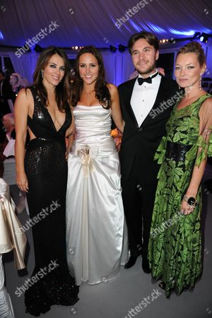 Liz Hurley, Elle Perfect, Ben Caring and Kate Moss