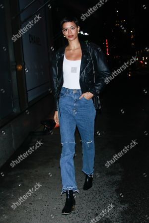 Editorial picture of Jourdana Phillips out and about, New York, USA - 08 Feb 2019