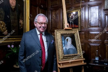 Exremely rare painting of Mary Queen of Scots is unveiled for public display at Hever Castle by Tudor expert Dr David Starkey