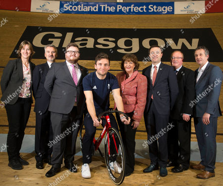 Fiona Hyslop, Cabinet Secretary for Culture, Tourism and External Affairs, David Lappartient, President of the Union Cycliste Internationale, Councillor David McDonald, Chair of Glasgow Life and Depute Leader of Glasgow City Council Dame Katherine Grainger DBE, Chair of UK Sport Frank Slevin, Chair of British Cycling Paul Bush OBE, Director of Events, VisitScotland, Callum Skinner, Commonwealth & Olympic Gold medallist.