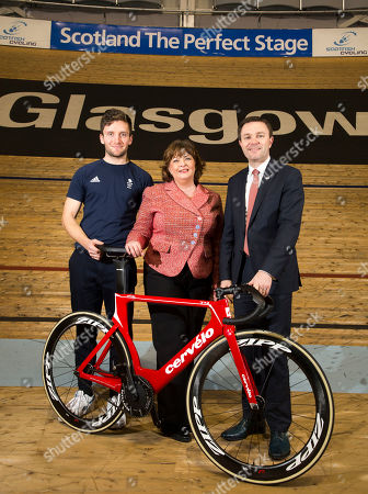 David Lappartient, President of the Union Cycliste Internationale Dame Katherine Grainger DBE, Chair of UK Sport Callum Skinner, Commonwealth & Olympic Gold medallist.