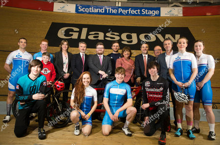 Fiona Hyslop, Cabinet Secretary for Culture, Tourism and External Affairs, David Lappartient, President of the Union Cycliste Internationale, Councillor David McDonald, Chair of Glasgow Life and Depute Leader of Glasgow City Council Dame Katherine Grainger DBE, Chair of UK Sport  Frank Slevin, Chair of British Cycling Paul Bush OBE, Director of Events, VisitScotland, Callum Skinner, Commonwealth & Olympic Gold medallist