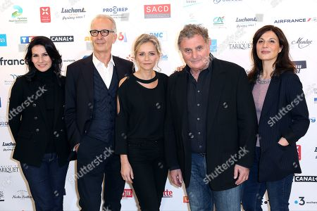 Marie Drucker, Stephane Milliere, Claire Borotra, Patrick Rotman and Helene Medigue